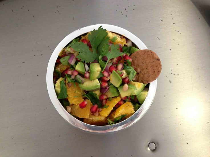 Pomegranate, Orange, and Avocado Salsa This is a refreshing summer ...