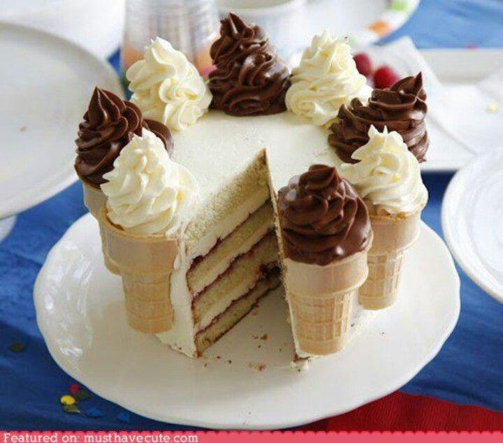 Ice cream cone cake | Recipes | Pinterest