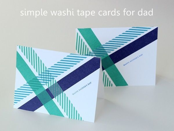 easy father's day cards preschool