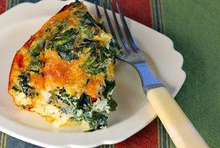 Kale, Mushroom and Caramelized Onion Breakfast Casserole