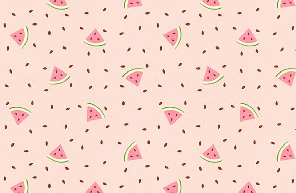 Seamless Pattern With Abstract Watermelon Pieces Vector Graphic