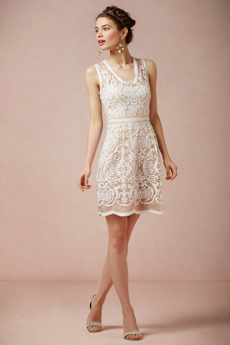 Cute dress for the rehearsal dinner | BHLDN Jola Dress $300