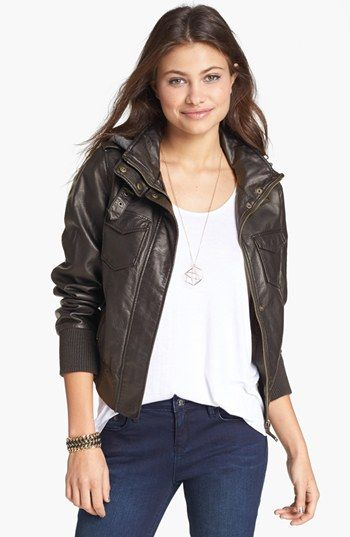 Thread & Supply Faux Leather Bomber Jacket (Juniors) available at # ...
