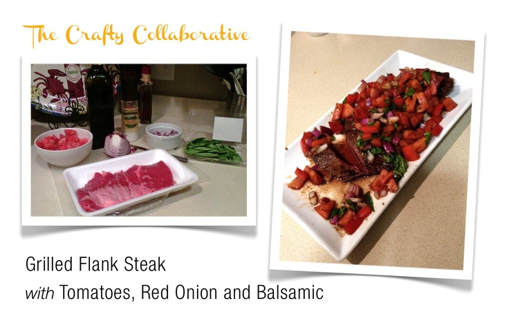 Skinnytaste's Grilled Flank Steak with Tomatoes, Red Onion and ...