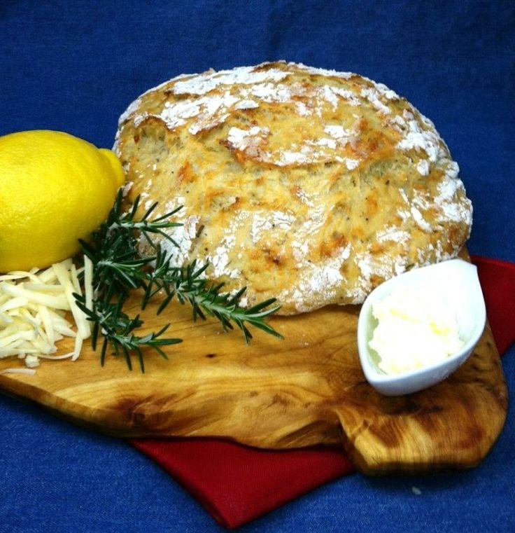 Rosemary Black Pepper No-Knead Artisan Bread | Bread & Breakfast ...