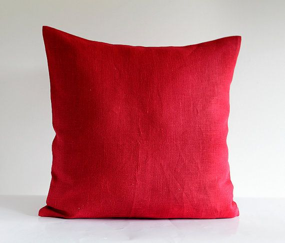 Red pillow cover - throw pillows - cushion case - throws - sham 0003