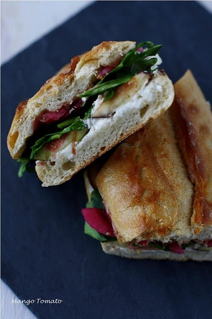 Fig & Goat Cheese Panini - I wish I could shake this goat cheese ...