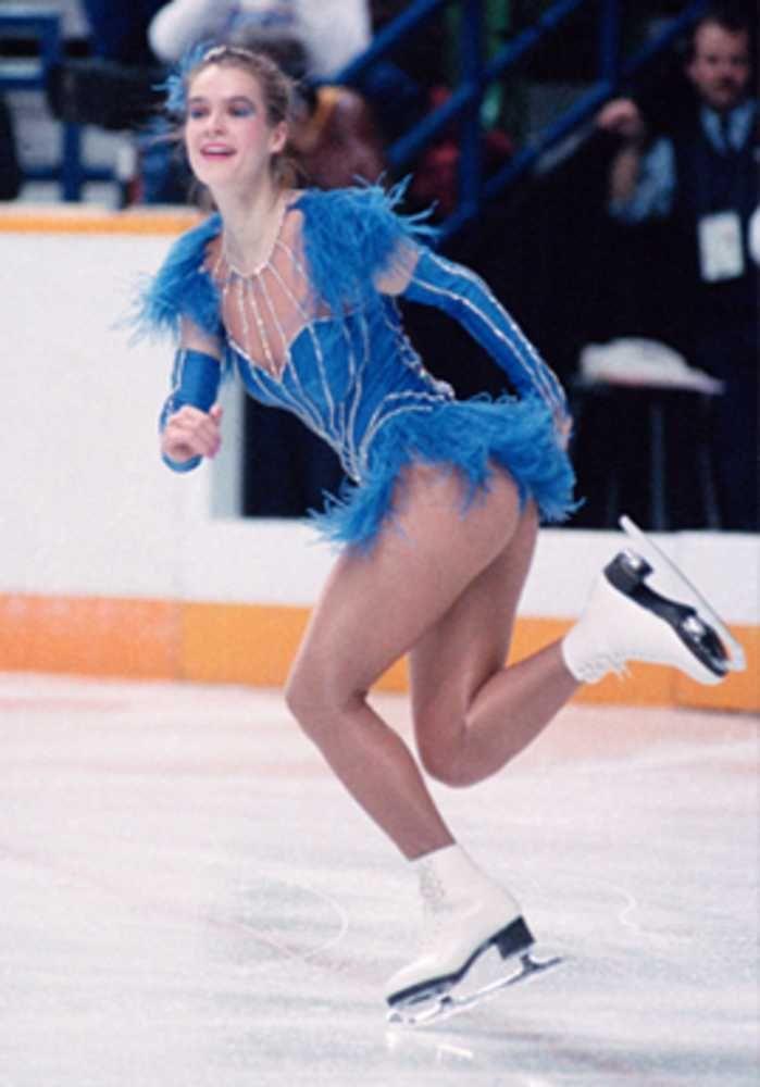 BUT NOT TOO SHORT     At Calgary in 1988  Katarina Witt   s high-cut    Katarina Witt 1988 Olympics
