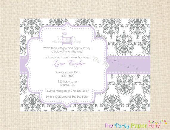 elegant baby shower invitations elegant crib damask baby shower