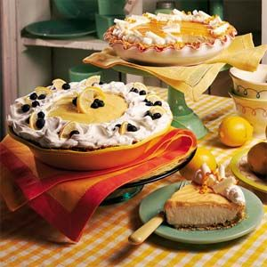 Lemon Blueberry Cream Pie-Luscious! You can lighten it up a bit if you ...