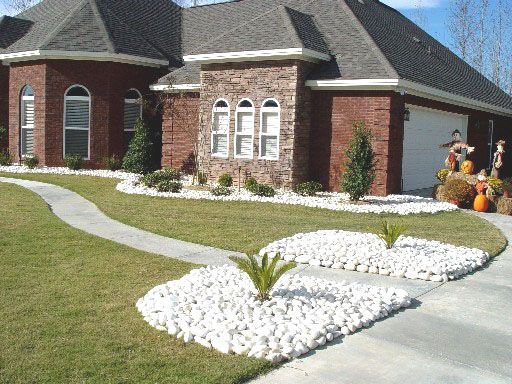 white landscaping rock landscaping pinterest