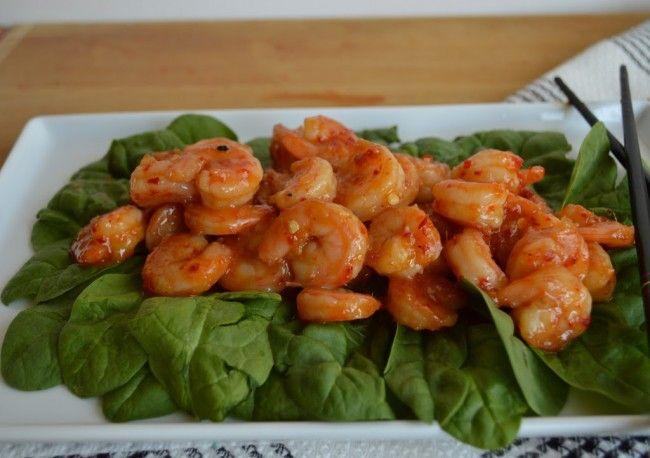 Paleo Spicy Orange Shrimp | Edibles: Cavewoman | Pinterest