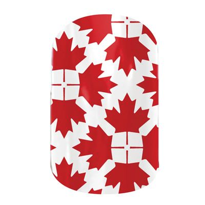 Oh Canada nail wraps by Jamberry Nails