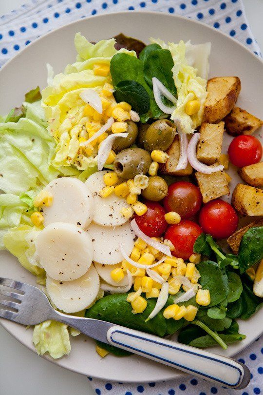 Salad #Recipe: Hearts of Palm, Corn, Tomatoes & Watercress Salad