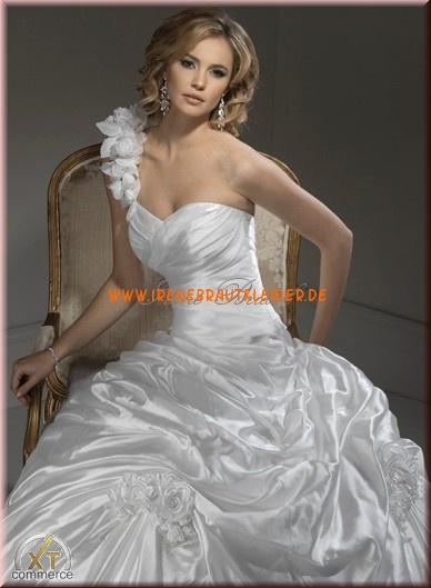 Luxuriöse Sexy Brautkleider aus Satin Ballkleid mit Reifroc...