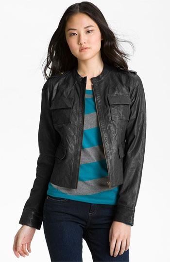Caslon^ Leather Jacket   Nordstrom   Lookin' Good   Pinterest
