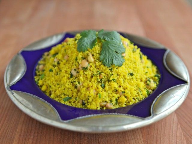 Lemony Saffron Couscous - Healthy Side Dish (we just had this for ...