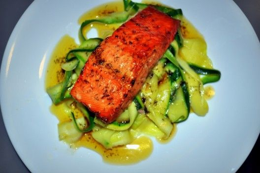 Salmon & Zucchini with Brown Butter Dill Sauce - Picket Fence Paleo