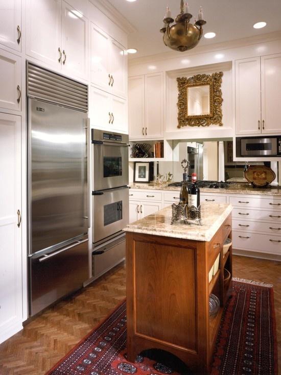 mirror backsplash kitchen ideas pinterest