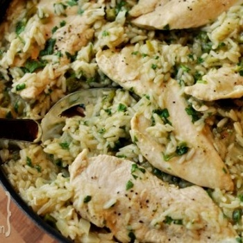Skillet Chicken with Mexican Green Rice   recipes   Pinterest
