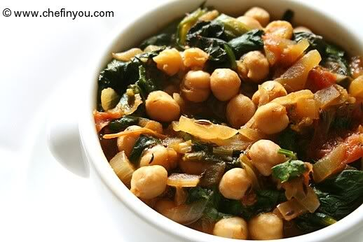 Channa Palak (Chickpeas With Spinach) | Recipes to Try | Pinterest