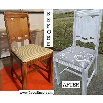 shabby chic before and after chair