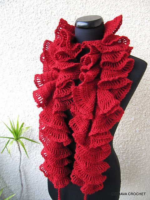 Double Ruffle Scarf Tutorial pattern by Lyubava Crochet