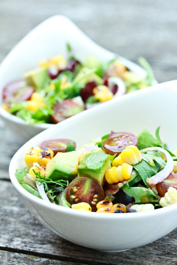 Grilled Corn Salad with Smokey Paprika Vinaigrette | Recipe