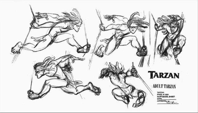 Disney Character Design Tarzan : Tarzan model sheet character design board pinterest