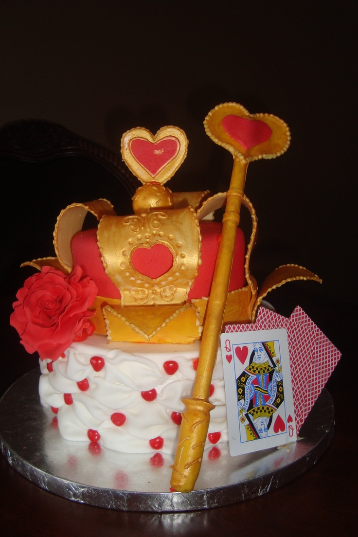 queen of hearts birthday cake  cakes done by us  Pinterest