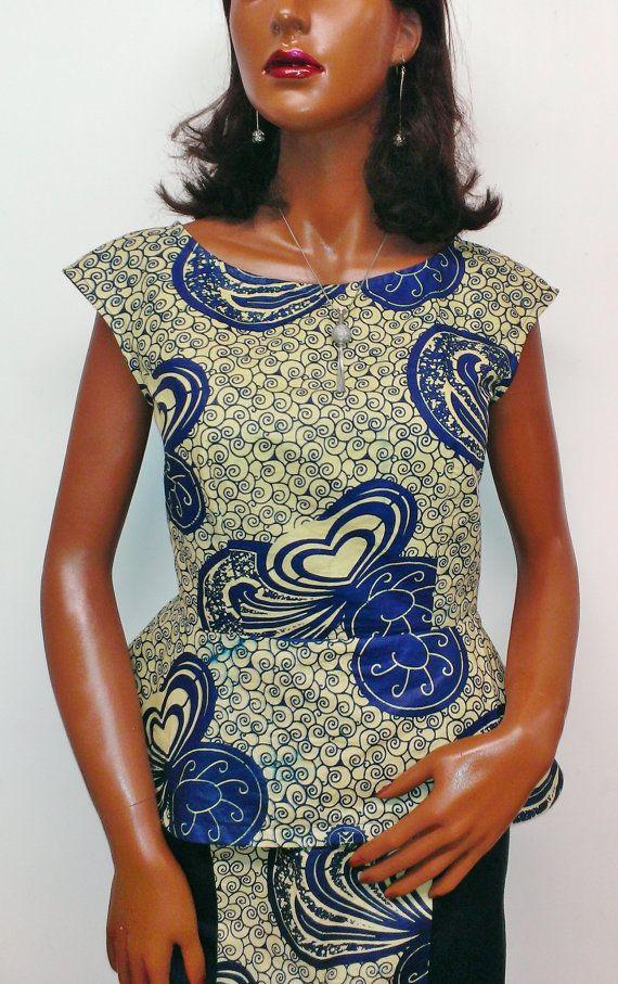 african print women s ladies peplum top
