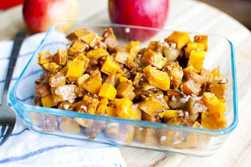 maple roasted apples and butternut squash