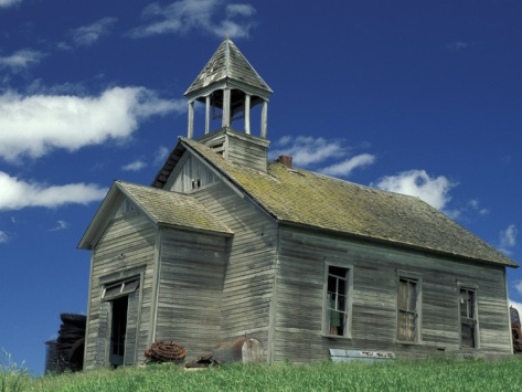 Abandoned school house in the palouse washington usa - The house in the abandoned school ...