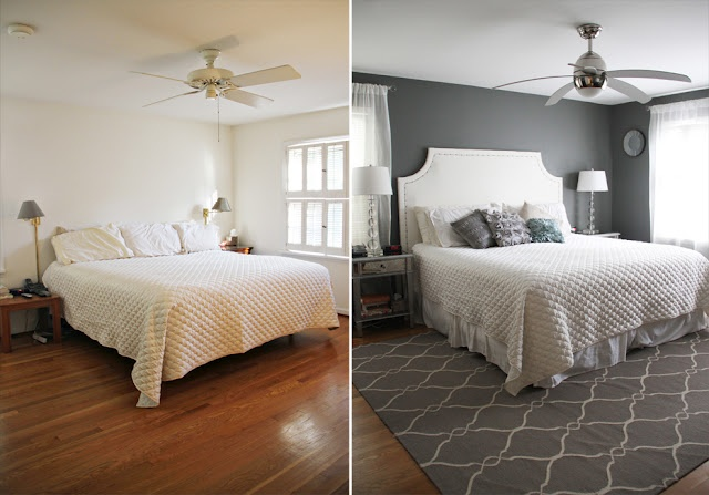 Master bedroom makeover before after decor more for Bedroom makeover