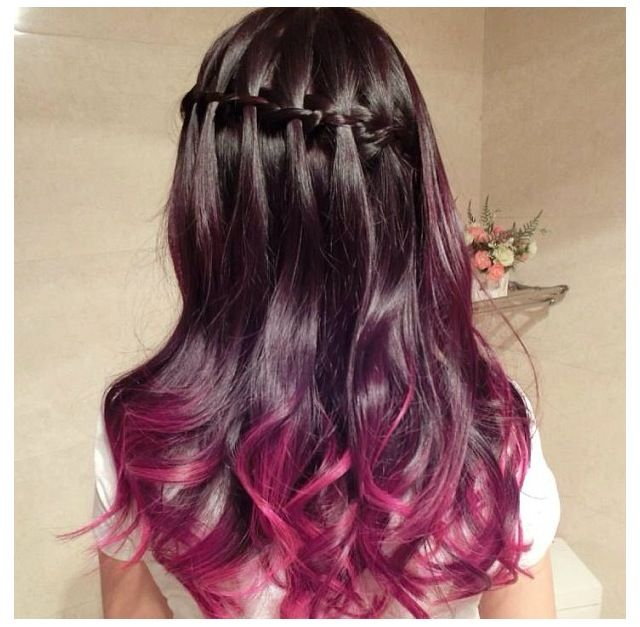 Burgundy Ombre Hair | Dark Brown Hairs