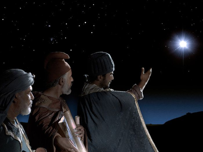 Free Bible images of the Wise Men (Magi) following a new bright star ...