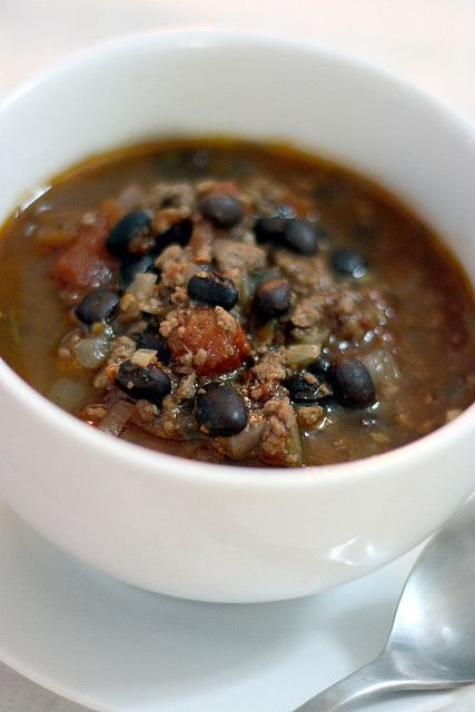 Lamb and black bean chili in red wine | Recipes | Pinterest