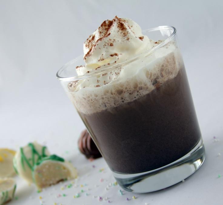 Dark Chocolate Cinnamon Eggnog with Godiva chocolate liqueur ...mix it ...
