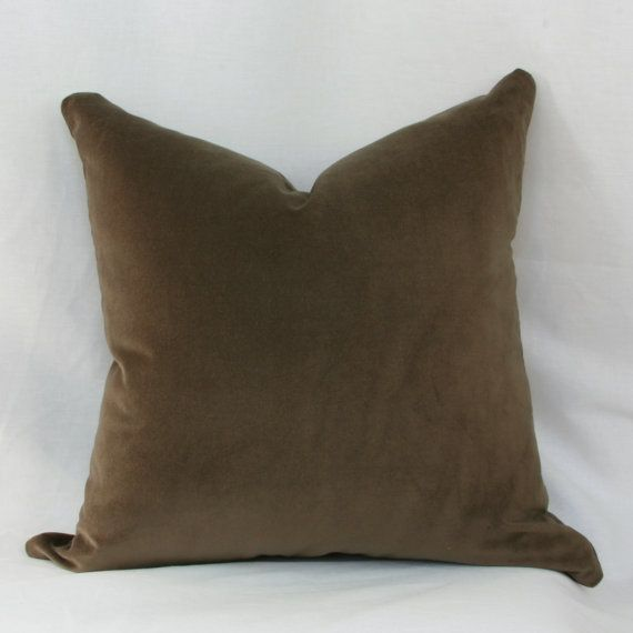 Brown Throw Pillows Etsy : Brown velvet decorative throw pillow cover. 20
