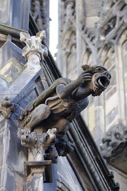prague gothic cathedral gargoyle gothic architecture