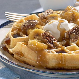 Banana Walnut Waffles | Signature Recipes | Pinterest