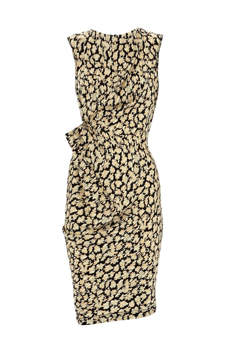Drape dress with a lovely pattern