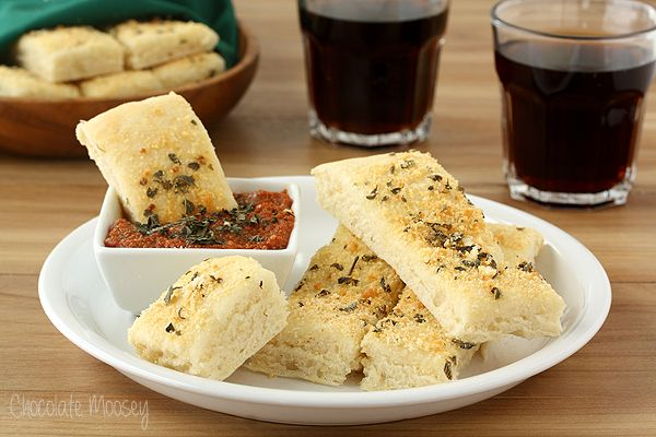Pizza Hut Style Soft Garlic Parmesan Breadsticks with Pepperoni Dippi ...