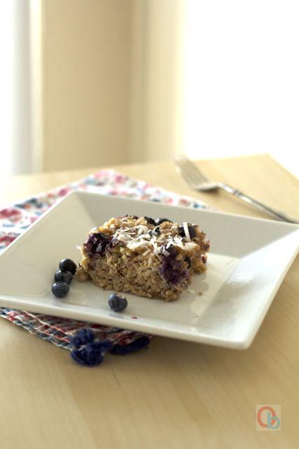 Baked Blueberry-Coconut Oatmeal Recipe | @Christine Ballisty McCarthy
