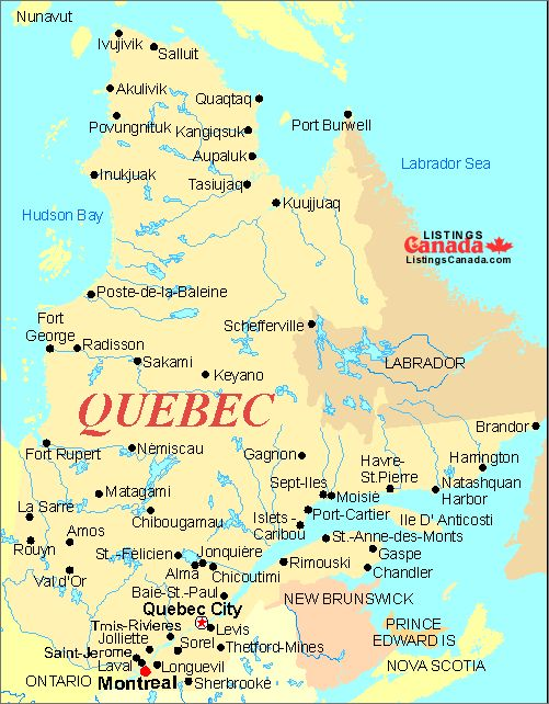 Map Of Quebec Take Me To Paris Or French Canada