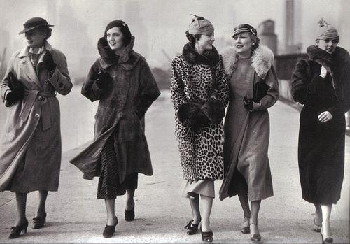 1930s street fashion.
