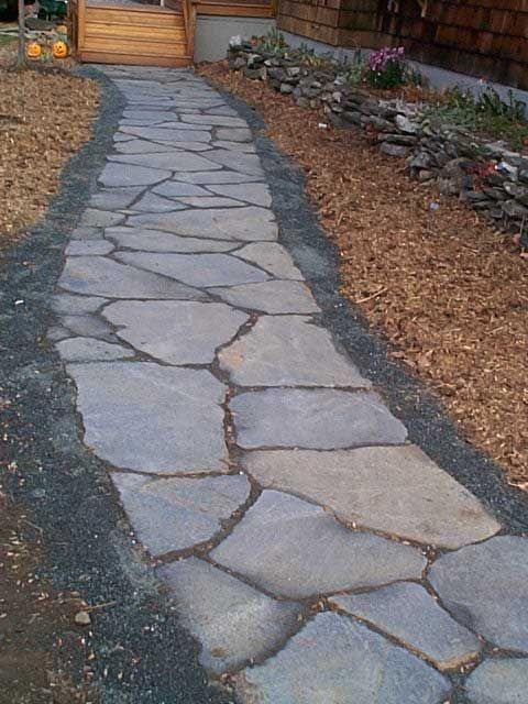Flagstone walkway Outdoor life Pinterest