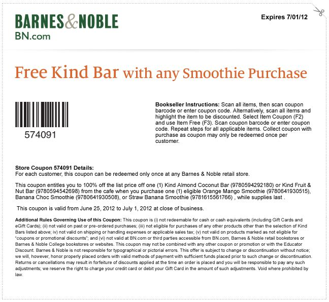 Barnes and noble member coupons 2018