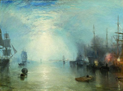 Joseph Mallord William Turner  Keelmen Heaving in Coals by Moonlight, 1835 Widener Collection 1942.9.86