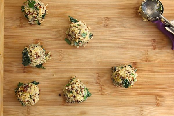 10 Recipes, 1 Perfect Dinner Party #refinery29 - kale and quinoa cakes